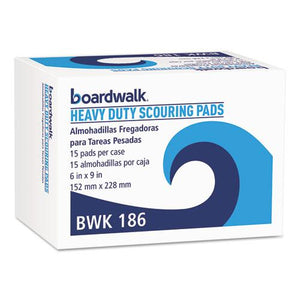 ESBWK186 - Heavy-Duty Scour Pad, Green, 6 X 9, 15-carton