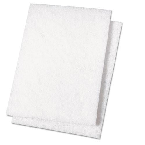 ESBWK198 - Light Duty Scour Pad, White, 6 X 9, 20-carton