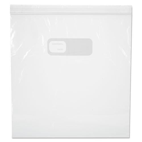 ESBWK1GALFZRBAG - RECLOSABLE FREEZER STORAGE BAGS, 1GAL, CLEAR, LDPE, 2.7MIL, 10.56 X 11, 250-BX