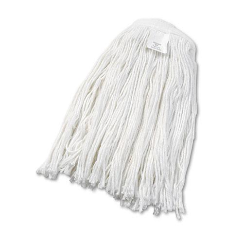 ESBWK2024REA - Cut-End Wet Mop Head, Rayon, No. 24, White