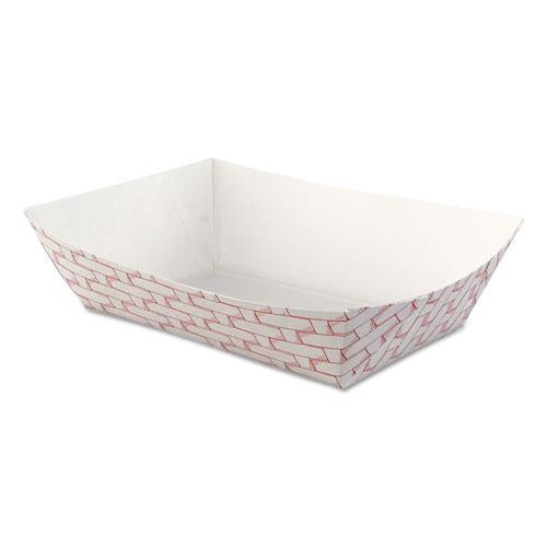 ESBWK30LAG250 - Paper Food Baskets, 2.5lb Capacity, Red-white, 500-carton