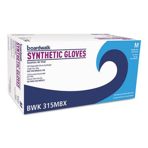 ESBWK315MBX - Powder-Free Synthetic Vinyl Gloves, Medium, Beige, 4 Mil, 100-box
