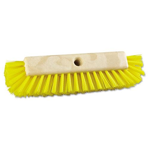"ESBWK3410 - Dual-Surface Scrub Brush, Plastic Fill, 10"" Long, Yellow"