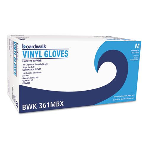 ESBWK361MCT - Exam Vinyl Gloves, Clear, Medium, 3 3-5 Mil, 1000-carton