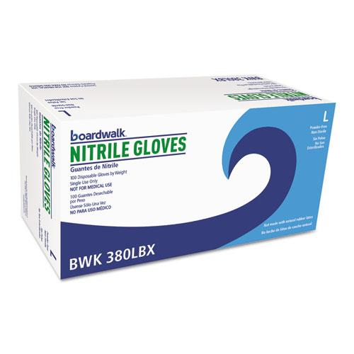 ESBWK380LCT - Disposable General-Purpose Nitrile Gloves, Large, Blue, 4 Mil, 1000-carton