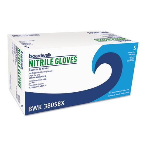 ESBWK380SBX - Disposable General-Purpose Nitrile Gloves, Small, Blue, 100-box