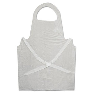 ESBWK390 - Disposable Apron, White, Poly, 28 X 45, 1.25 Mil, One Size, 100-pk