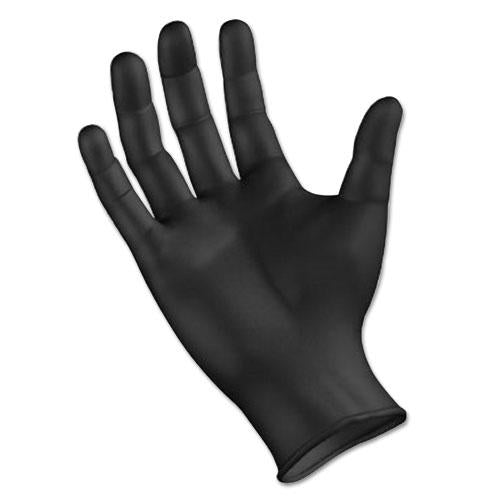 ESBWK396LBX - Disposable General Purpose Powder-Free Nitrile Gloves, L, Black, 4.4mil, 100-box