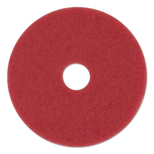 "ESBWK4012RED - BUFFING FLOOR PADS, 12"" DIAMETER, RED, 5-CARTON"
