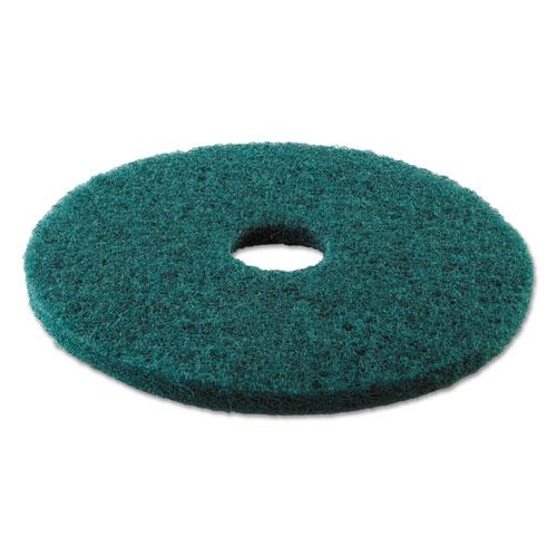 "ESBWK4013GRE - HEAVY-DUTY SCRUBBING FLOOR PADS, 13"" DIAMETER, GREEN, 5-CARTON"