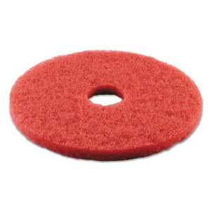 "ESBWK4014RED - BUFFING FLOOR PADS, 14"" DIAMETER, RED, 5-CARTON"