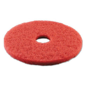 "ESBWK4015RED - BUFFING FLOOR PADS, 15"" DIAMETER, RED, 5-CARTON"