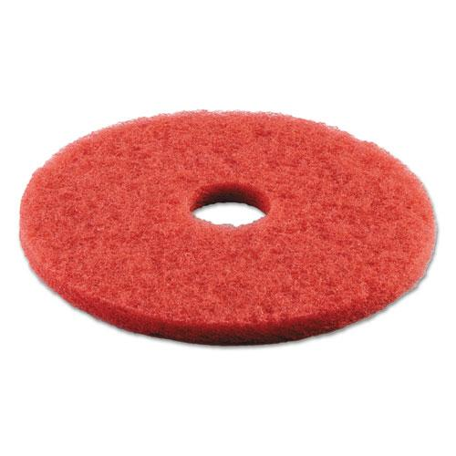 "ESBWK4016RED - BUFFING FLOOR PADS, 16"" DIAMETER, RED, 5-CARTON"
