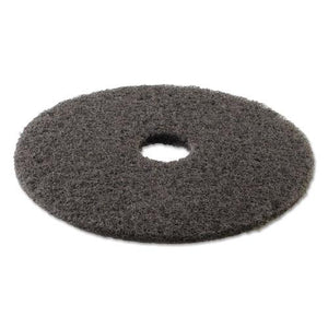 "ESBWK4017HIP - HIGH PERFORMANCE STRIPPING FLOOR PADS, 17"" DIAMETER, GRAYISH BLACK, 5-CARTON"