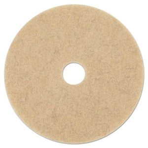"ESBWK4017ULT - TAN BURNISHING FLOOR PADS, 17"" DIAMETER, 5-CARTON"