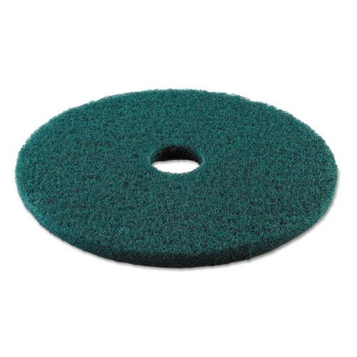"ESBWK4019GRE - HEAVY-DUTY SCRUBBING FLOOR PADS, 19"" DIAMETER, GREEN, 5-CARTON"