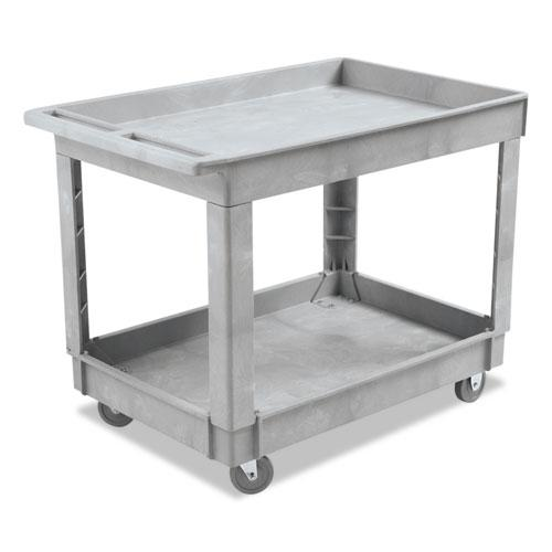 ESBWK4024UCGRA - Utility Cart, Two-Shelf, Plastic Resin, 24w X 40d, Gray