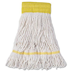 ESBWK501WH - SUPER LOOP WET MOP HEAD, COTTON-SYNTHETIC FIBER, SMALL, WHITE, 12-CARTON