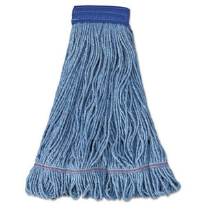 ESBWK504BL - SUPER LOOP WET MOP HEAD, COTTON-SYNTHETIC FIBER, X-LARGE, BLUE, 12-CARTON