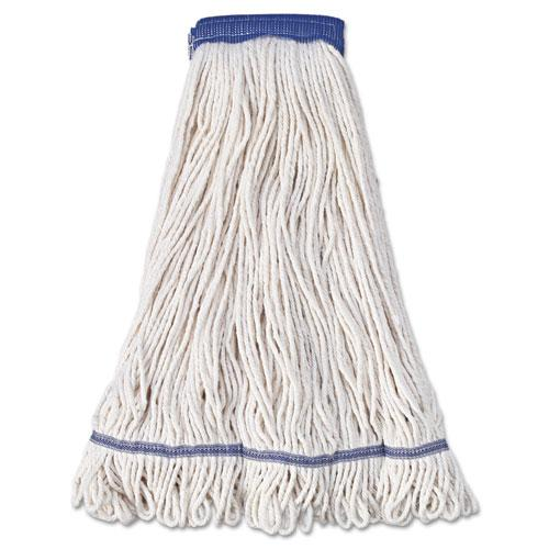 ESBWK504WH - SUPER LOOP WET MOP HEAD, COTTON-SYNTHETIC FIBER, X-LARGE, WHITE, 12-CARTON