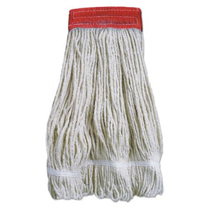 ESBWK5320FTBNBTCT - Wideband Looped-End Mop Heads, 20 Oz, Natural W-red Band, 12-carton