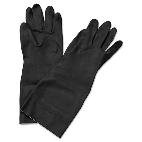"ESBWK543M - Neoprene Flock-Lined Gloves, Long-Sleeved, 12"", Medium, Black, Dozen"
