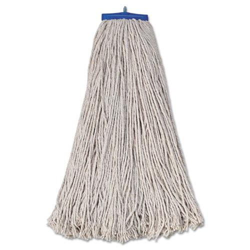 ESBWK732C - Mop Head, Economical Lie-Flat Head, Cotton Fiber, 32oz, White, 12-carton