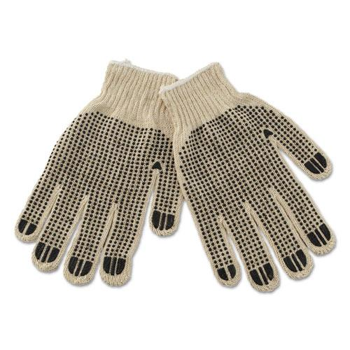 ESBWK792 - Pvc-Dotted String Knit Gloves, Large, Dozen