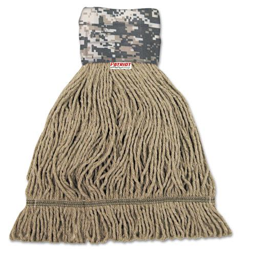 ESBWK8200M - Patriot Looped End Wide Band Mop Head, Medium, Green-brown, 12-carton