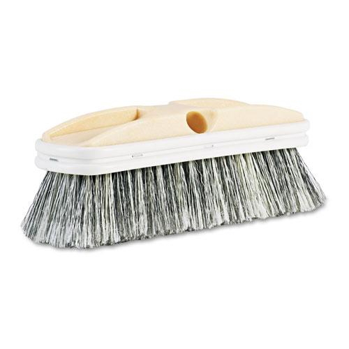 "ESBWK8410 - Polystyrene Vehicle Brush W-vinyl Bumper, 2 1-2"" Bristles, 10"" Brush"