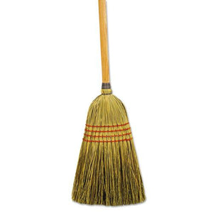 "ESBWK920YCT - MAID BROOM, MIXED FIBER BRISTLES, 55"" LONG, NATURAL, 12-CARTON"