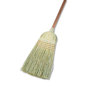 "ESBWK932YCT - Warehouse Broom, Yucca Corn Fiber Bristles, 56"" Overalll Length, Natural, 12-ct"