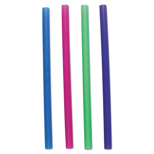 "ESBWKCSTU85N - Unwrapped Colossal Straws, 8 1-2"", Blue, Green, Pink, Purple, 4000-carton"