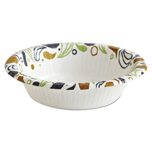 ESBWKDEER12BOWL - Deerfield Printed Paper Bowl, 12 Oz, Coated-soak Proof, 125 Bowls-pack, 8 Pks-ct