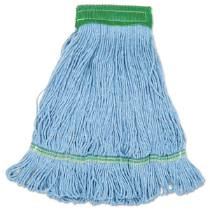 ESBWKLM30310M - Mop, Cotton, Looped End, Wide Band, Blue, 12-carton