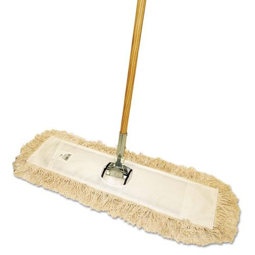 "ESBWKM245C - Cut-End Dust Mop Kit, 24 X 5, 60"" Wood Handle, Natural"