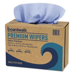 ESBWKP070IDB - Hydrospun Wipers, Blue, 9 X 16 3-4, 10 Pack Dispensers Of 100, 000-carton
