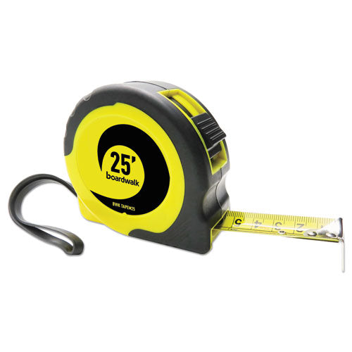 "ESBWKTAPEM25 - EASY GRIP TAPE MEASURE, 25 FT, PLASTIC CASE, BLACK AND YELLOW, 1-16"" GRADUATIONS"