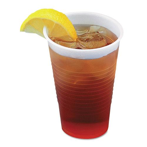 ESBWKTRANSCUP5CT - TRANSLUCENT PLASTIC COLD CUPS, 5OZ, POLYPROPYLENE, 100-BAG, 25 BAGS-CARTON
