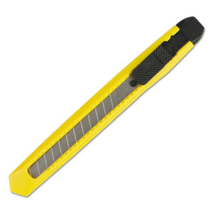 ESBWKUKNIFE75 - SNAP BLADE KNIFE, RETRACTABLE, SNAP-OFF, STRAIGHT-EDGED, YELLOW