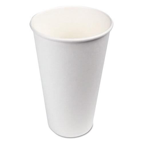 ESBWKWHT20HCUP - Paper Hot Cups, 20 Oz, White, 600-carton