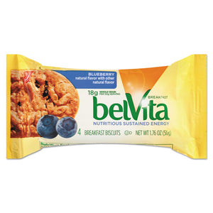 ESCDB02908BX - Belvita Breakfast Biscuits, Blueberry, 1.76 Oz Pack