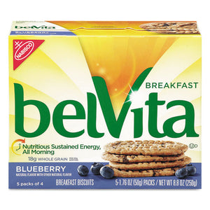 ESCDB02908 - BELVITA BREAKFAST BISCUITS, 1.76 OZ PACK, BLUEBERRY, 64-CARTON