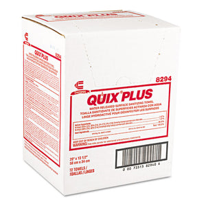 ESCHI8294 - Quix Plus Disinfecting Towels, 13 1-2 X 20, Pink, 72-carton