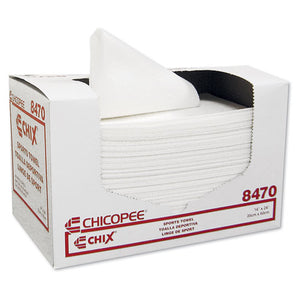 ESCHI8470 - Sports Towels, 14 X 24, White, 100 Towels-pack, 6 Packs-carton