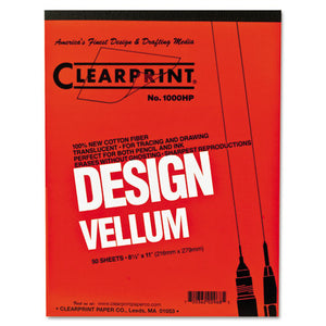 ESCLE10001410 - Design Vellum Paper, 16lb, White, 8-1-2 X 11, 50 Sheets-pad