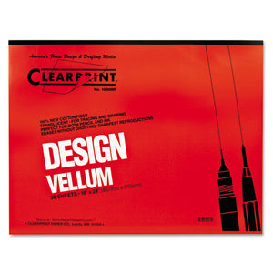 ESCLE10001422 - Design Vellum Paper, 16lb, White, 18 X 24, 50 Sheets-pad