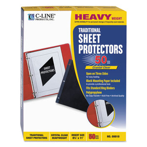 ESCLI00010 - Traditional Polypropylene Sheet Protector, Heavyweight, 11 X 8 1-2, 50-bx