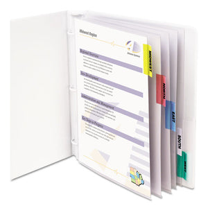 "ESCLI05550 - Sheet Protectors With Index Tabs, Assorted Color Tabs, 2"", 11 X 8 1-2, 5-st"