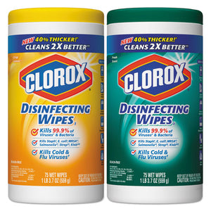 ESCLO01599 - Disinfecting Wipes, 7 X 8, Fresh Scent-citrus Blend, 75-canister, 2-pack